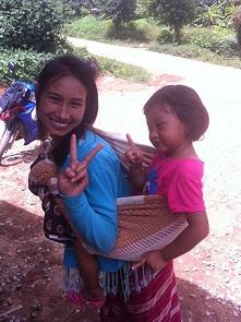 Mas Schwester mit ihrer Tochter